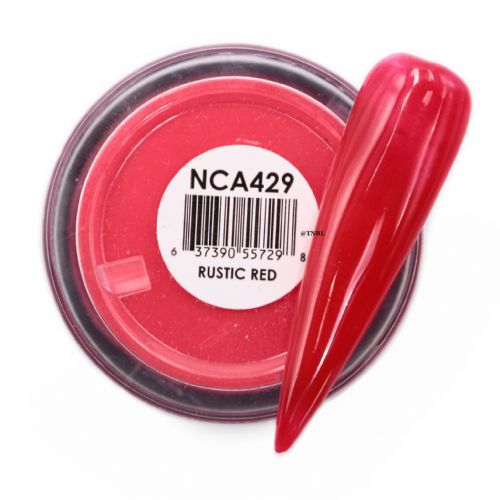 GLAM AND GLITS NAKED COLOR ACRYLIC - NCAC429 RUSTIC RED